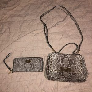Michael Kors python snake skin purse and wallet